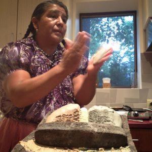 Benedicta forming tortillas