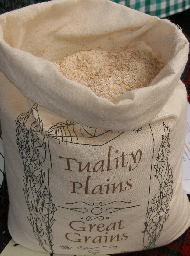 Grain in bag.